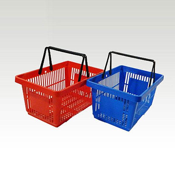 Plasticne potroskacke korpe za prodavnice i supermarkete sa dve rucke