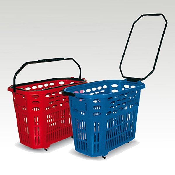 Plasticne potrosacke korpe sa tockicima za prodavnice i supermareke