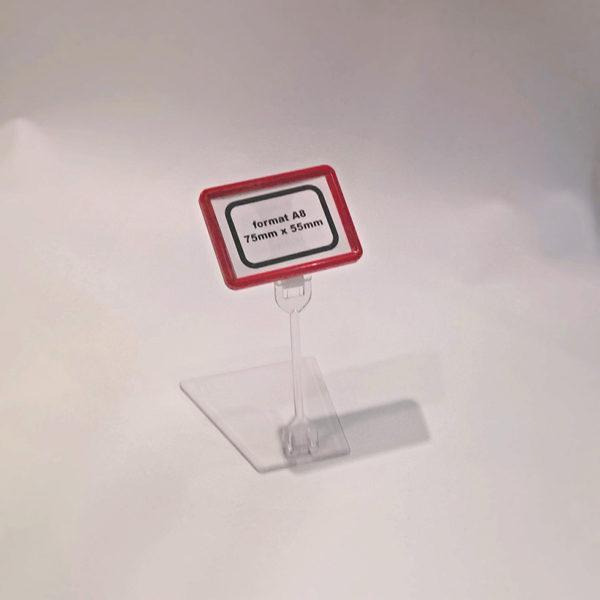 Drzac-za-cene-A8-format-crveni-sa-pomicnim-postoljem-visine-100mm