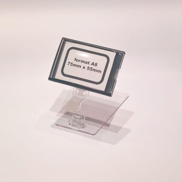 Kaseta-za-cene-A8-crna-sa-pokretnim-postoljem-visine-50mm