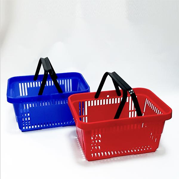Plasticne korpe za prodavnice sa dve rucke, 22l